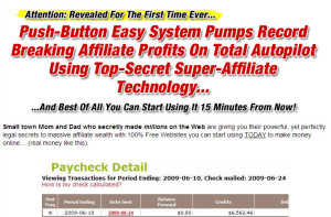 A screen shot of a typical headline found on sites selling internet marketing training courses.